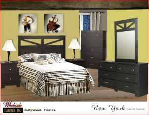 New York Style Complete 5 pc Bedroom Furniture Set