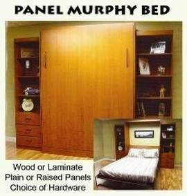 Panel murphy bed, wood or laminate